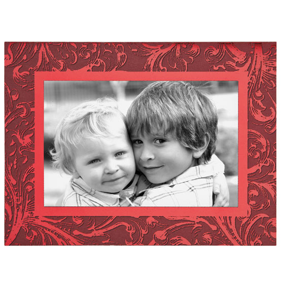 Truly Red Photo Christmas Card Set of 18 - View 4