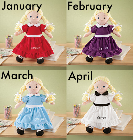 Personalized Big Sister Birthstone Doll - View 2