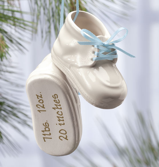 Personalized Baby Bootie Ornament - View 2