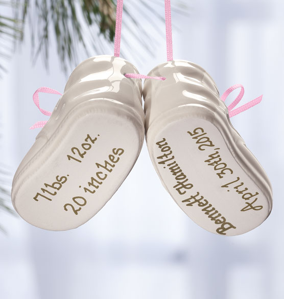 Personalized Baby Bootie Ornament - View 3