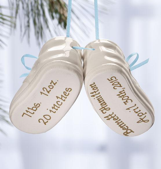 Personalized Baby Bootie Ornament - View 4