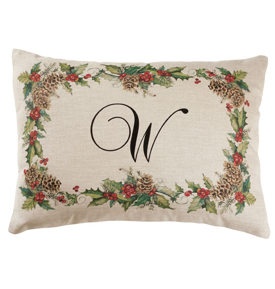 Holiday Holly Throw Pillow - View 2