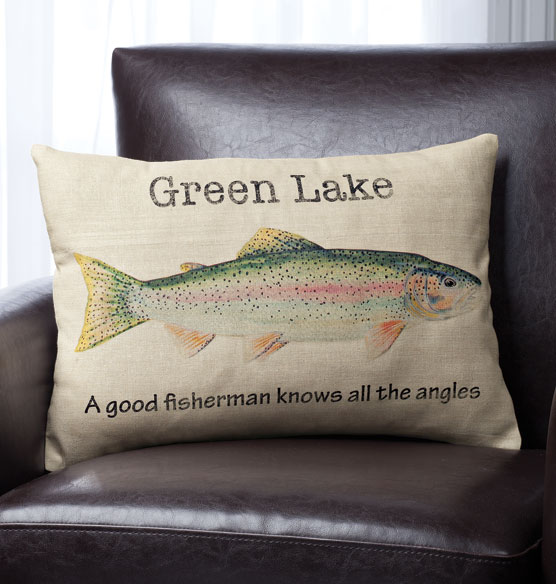 Fisherman's Lake Personalized Pillow - View 2