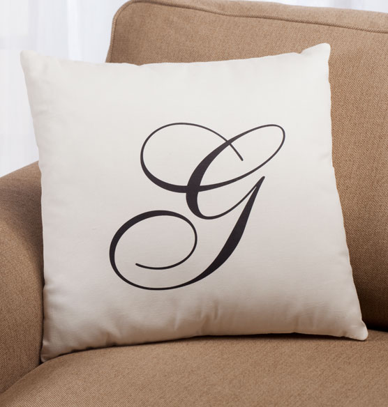 Script Monogram Pillow 18 x 18 - View 2