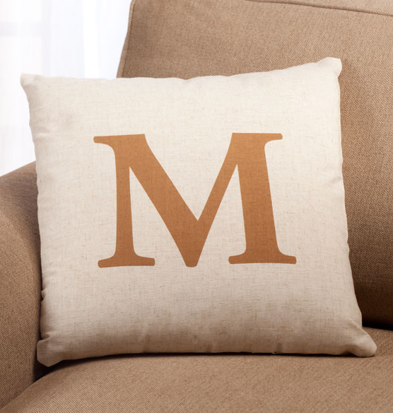 Times Monogram Pillow 18 x 18 - View 2
