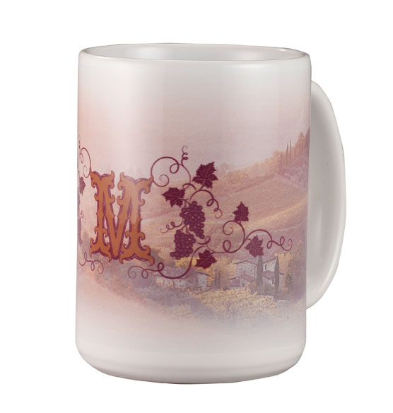 Personalized Tuscan Sunset Mug - View 2