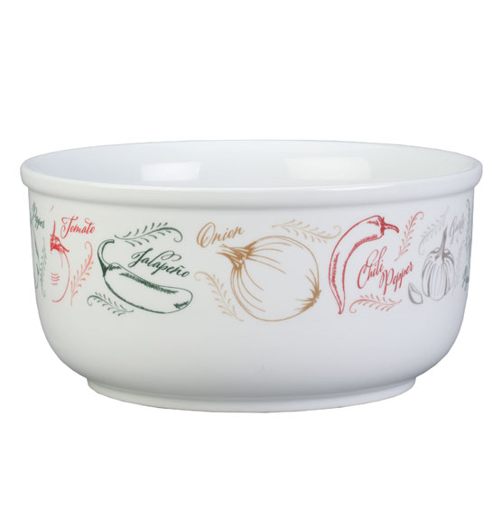 Personalized Farmers Market Salsa Serving Bowl - View 2