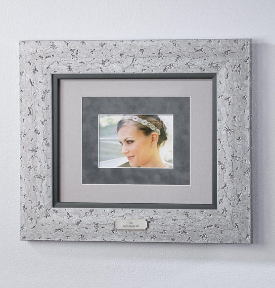 Custom Triple Mat Contemporary Nickel Frame - View 2