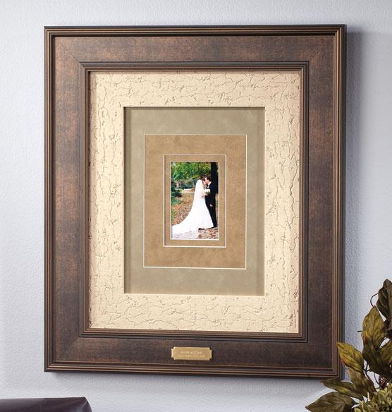 Custom Triple Mat Bronze Frame