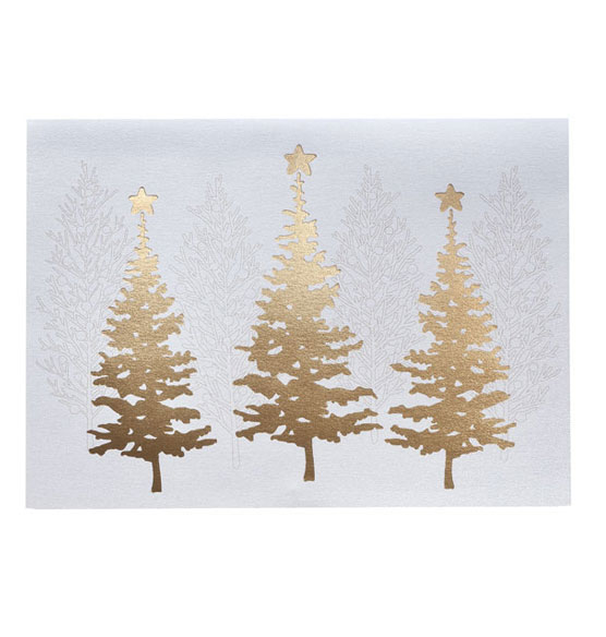 Golden December Holiday Cards - Set of 18 - View 2