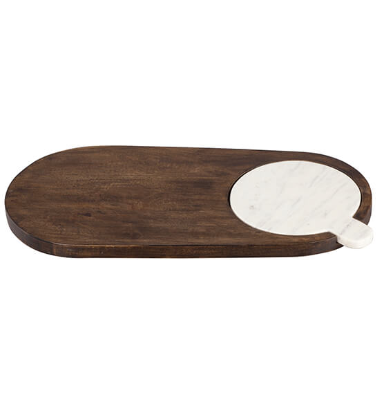 Marble and Wood Cheese Board - View 2