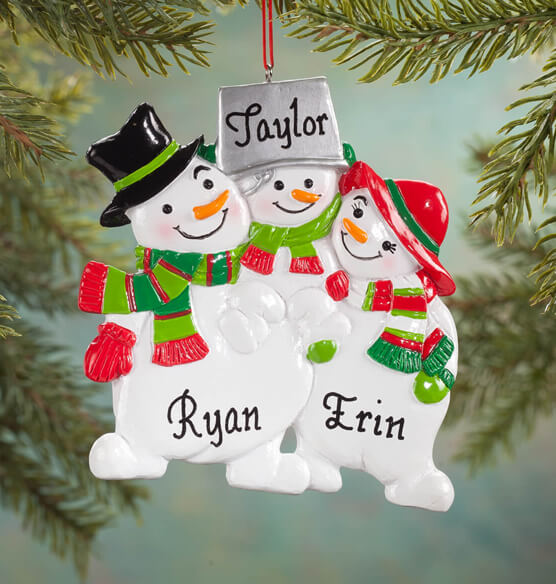 Personalized Snowman Family Ornament - View 2