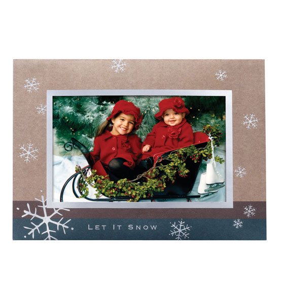 Let It Snow Photo Christmas Holiday Cards Set of 18 - View 2