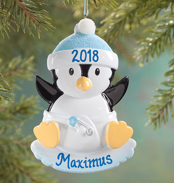 Personalized Baby Penguin Ornament - View 2