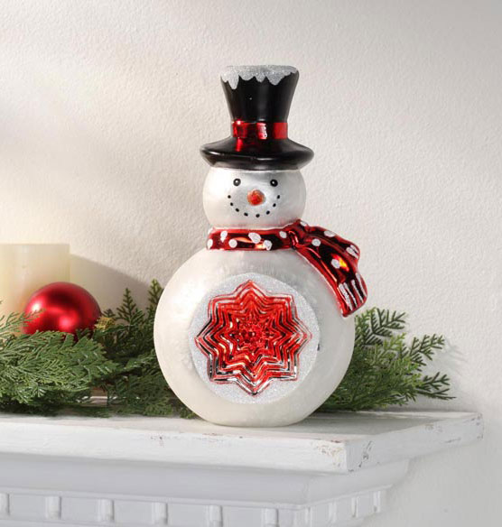 Glass Snowman Table Piece - View 2