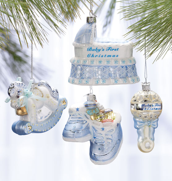 Baby's First Christmas Ornament Gift Set - View 2