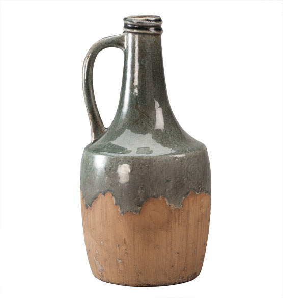 Large Blue Stone Ceramic Jug - View 2