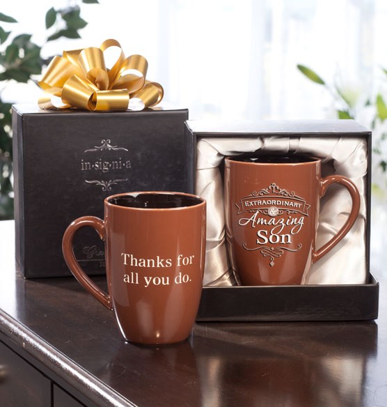 Personalized Insignia Mug for Him - View 4