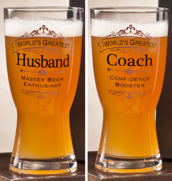 Personalized Insignia Beer Glass - View 3