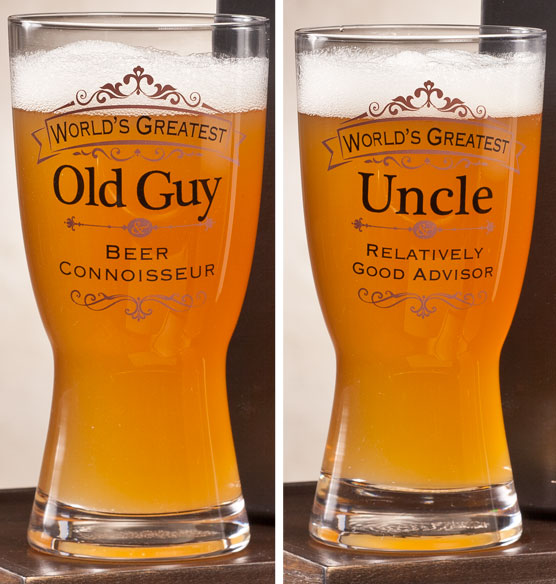 Personalized Insignia Beer Glass - View 4