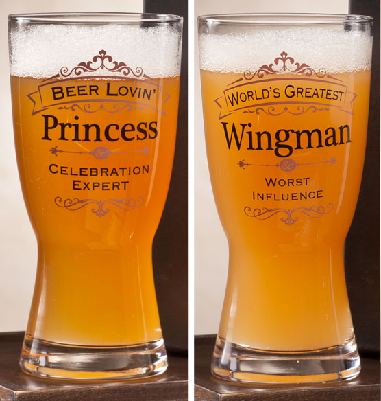Personalized Insignia Beer Glass - View 5