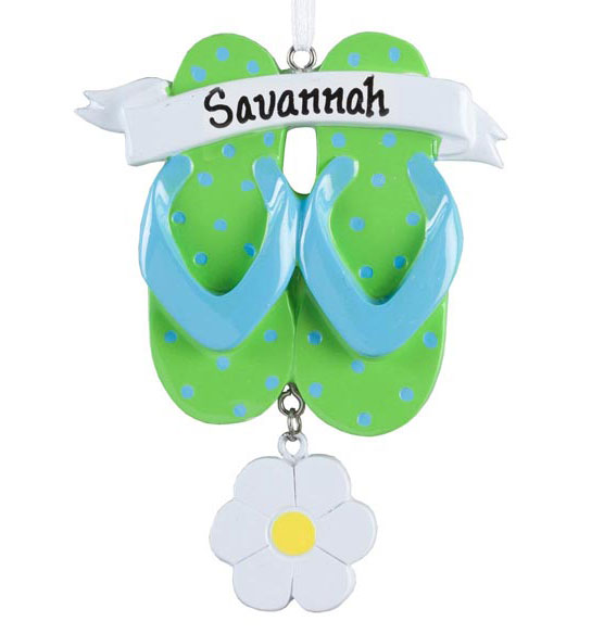 Personalized Flip-Flop Ornament - View 2