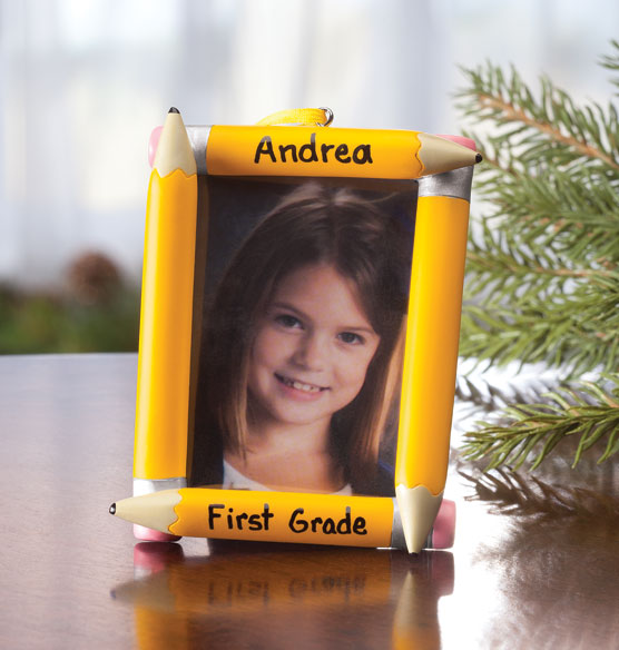 Personalized School Frame Ornament - View 2