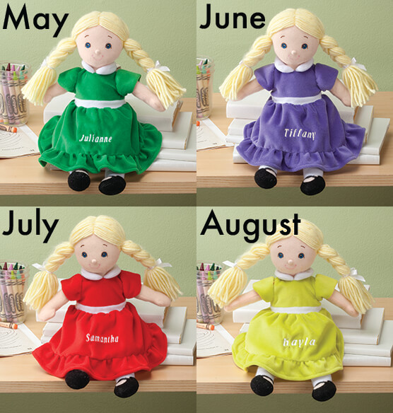 Personalized Little Sister Birthstone Doll - View 3