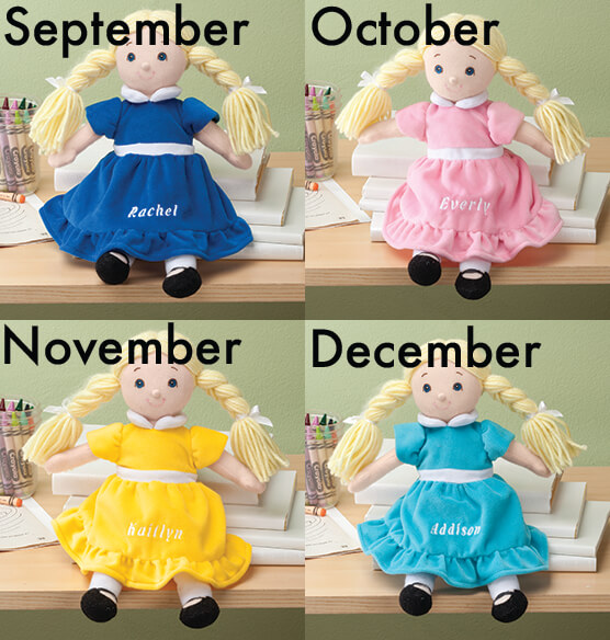 Personalized Little Sister Birthstone Doll - View 4