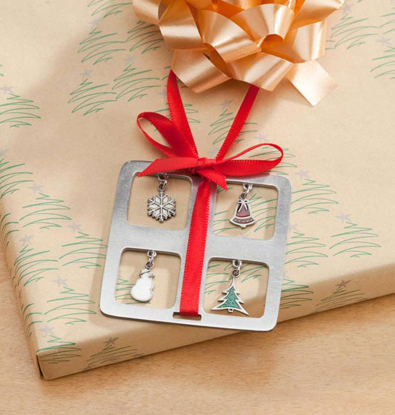 Pewter Charm Present Ornament - View 3
