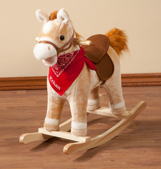Personalized Animated Rocking Horse with Sound - View 2