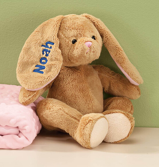 Personalized Brown Plush Bunny - View 2