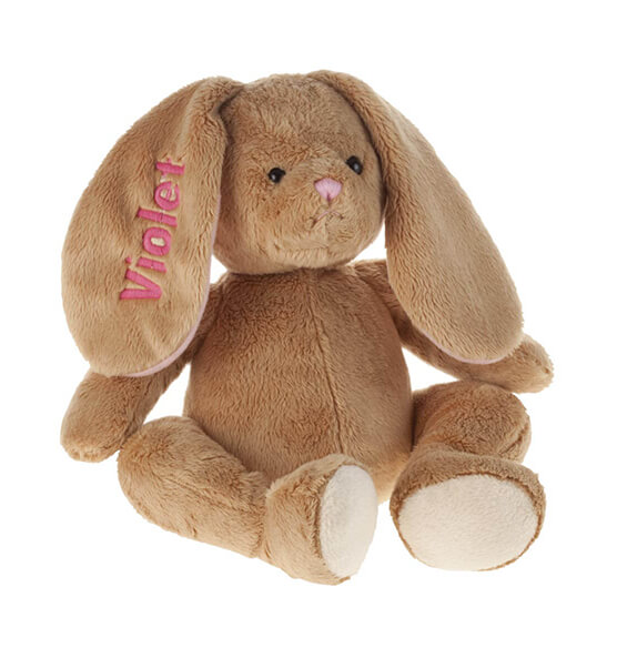 Personalized Brown Plush Bunny - View 3