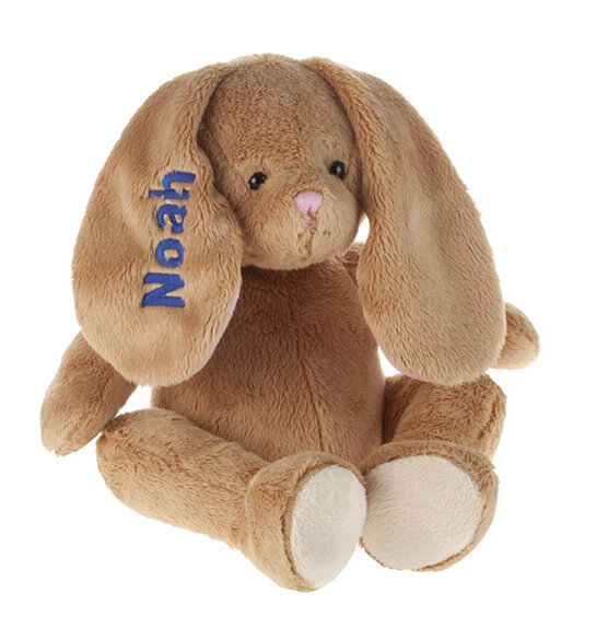 Personalized Brown Plush Bunny - View 4