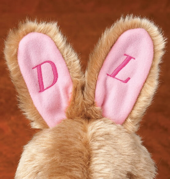 Personalized Plush Children's Easter Bunny Slippers - View 3