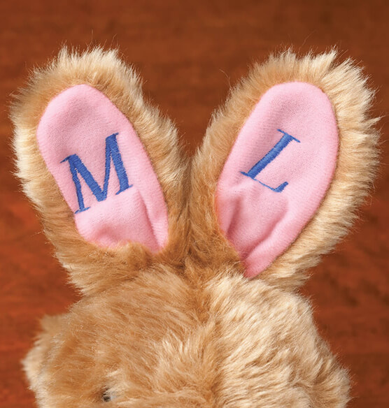 Personalized Plush Children's Easter Bunny Slippers - View 4