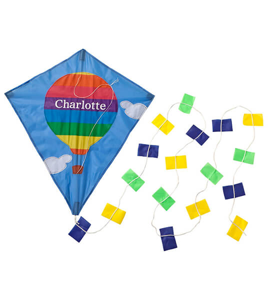 Personalized Hot Air Balloon Kite - View 2
