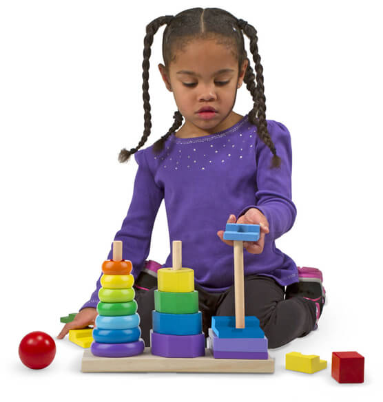 Melissa & Doug® Personalized Geometric Stacker - View 2