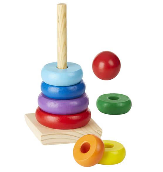 Melissa & Doug® Personalized Rainbow Stacker - View 2