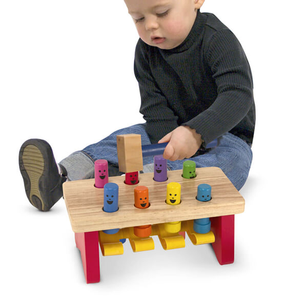 Melissa & Doug® Personalized Deluxe Pounding Bench - View 2