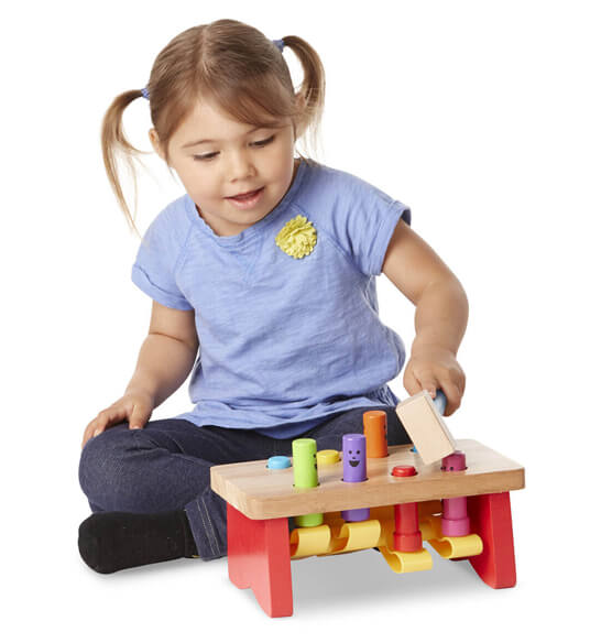 Melissa & Doug® Personalized Deluxe Pounding Bench - View 3