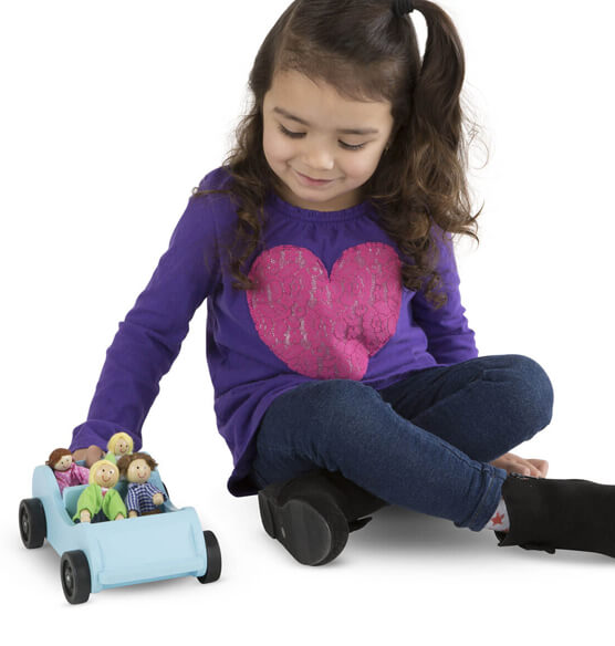 Melissa & Doug® Personalized Wooden Car & Passengers - View 2