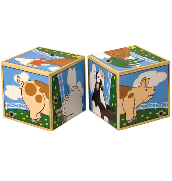 Melissa & Doug® Personalized Farm Sounds Blocks - View 2