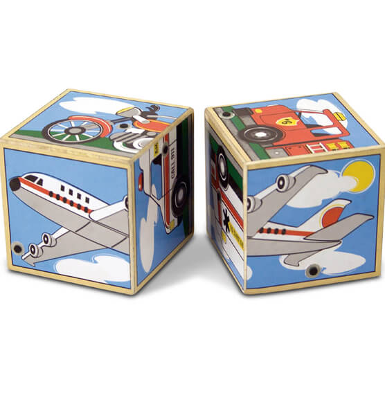 Melissa & Doug® Personalized Vehicles Sound Blocks - View 2