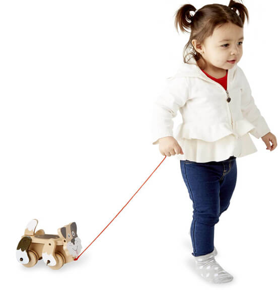 Melissa & Doug® Personalized Playful Puppy Pull Toy - View 2