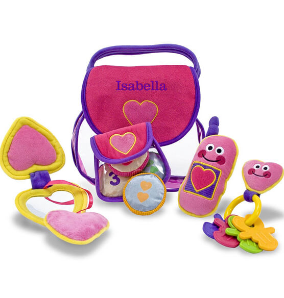 Melissa & Doug® Personalized Pretty Purse Fill and Spill - View 3