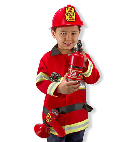 Melissa & Doug® Personalized Fire Chief Costume Set - View 2