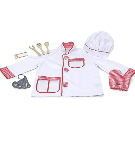 Melissa & Doug® Personalized Chef Costume Set - View 3