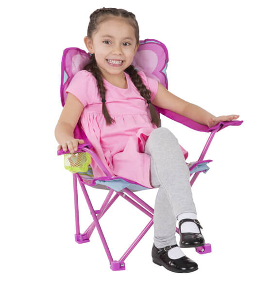 Melissa & Doug® Personalized Cutie Pie Butterfly Camp Chair - View 3