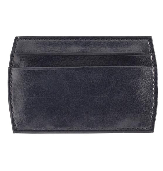 Monogrammed Black Money Clip Wallet - View 3